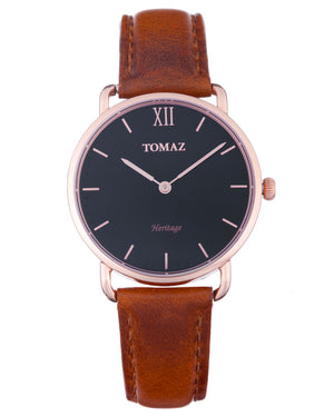 Load image into Gallery viewer, Tomaz Ladies Watch G1L-D4B (Rose Gold/Black) watches Malaysia, watches for women, watches online, Watches of Switzerland, Watches for sale online, simple watch, ladies watch, watch with Sapphire Crystal, Swarovski watch