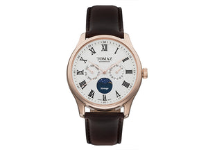 Tomaz Men's Watch TQ003 (Rose Gold/Silver)