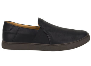 Load image into Gallery viewer, Tomaz TR262 Mens Sneakers Slip On (Black) (425294037021)