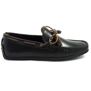 Tomaz  C192B Ribbon Tassel Moccasins (Black) - Tomaz Shoes