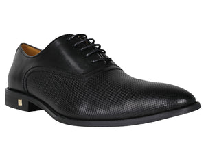 Tomaz F109 Perforated Lace Up Formal (Black) - Tomaz Shoes