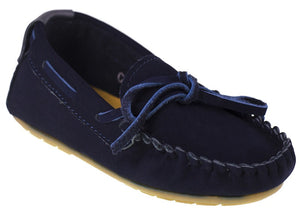 Tomaz C261 Ribbon Tassel Moccasins (Navy) - Tomaz Shoes