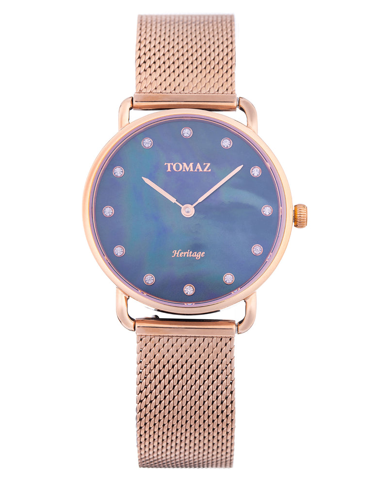 Tomaz Ladies Watch G1L-D12 (Rose Gold/Dark Blue Marble) watches Malaysia, watches for women, watches online, Watches of Switzerland, Watches for sale online, simple watch, ladies watch, watch with Sapphire Crystal, Swarovski watch.