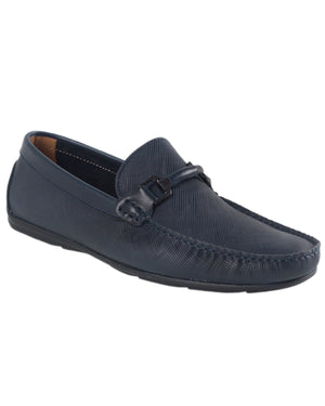 Load image into Gallery viewer, Tomaz BF283 Front Buckle Moccasins (Navy)