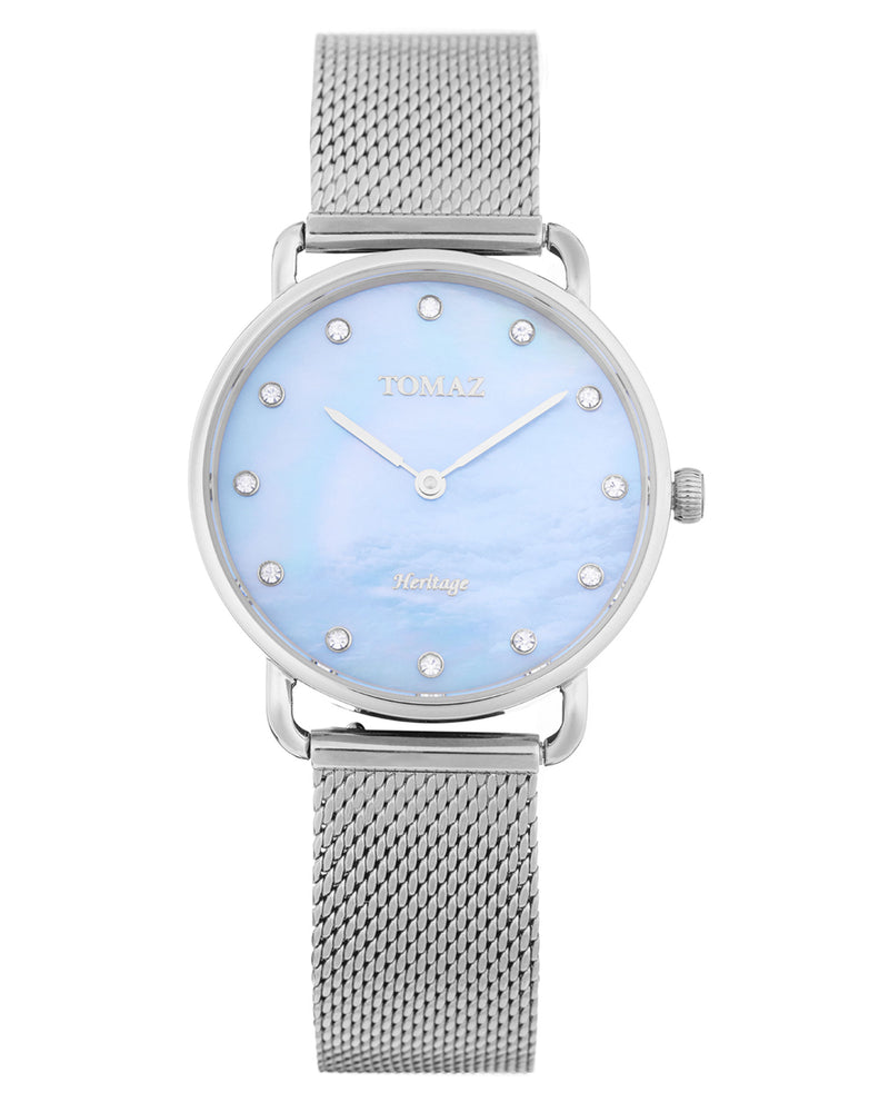 Tomaz Ladies Watch G1L-D8 (Silver/Blue Marble)