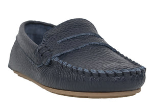 Tomaz C326 Penny Loafers (Blue) (Kids) - Tomaz Shoes