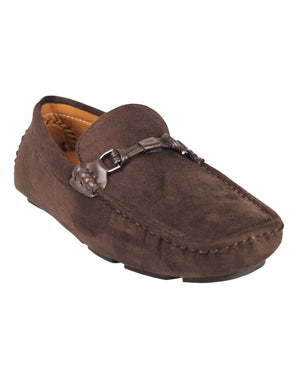 Load image into Gallery viewer, Tomaz C352 Buckled Moccasins (Coffee)
