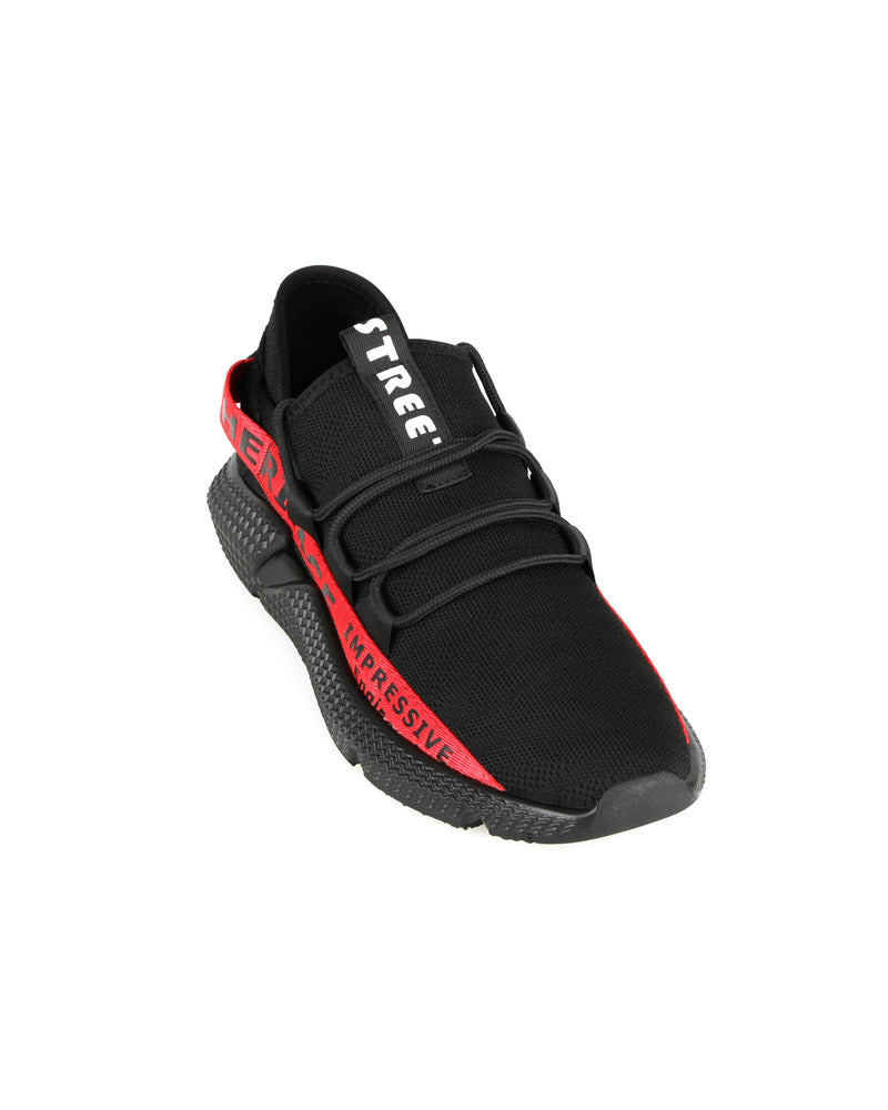 Load image into Gallery viewer, Tomaz C385A Casual Sneakers (Black Red)