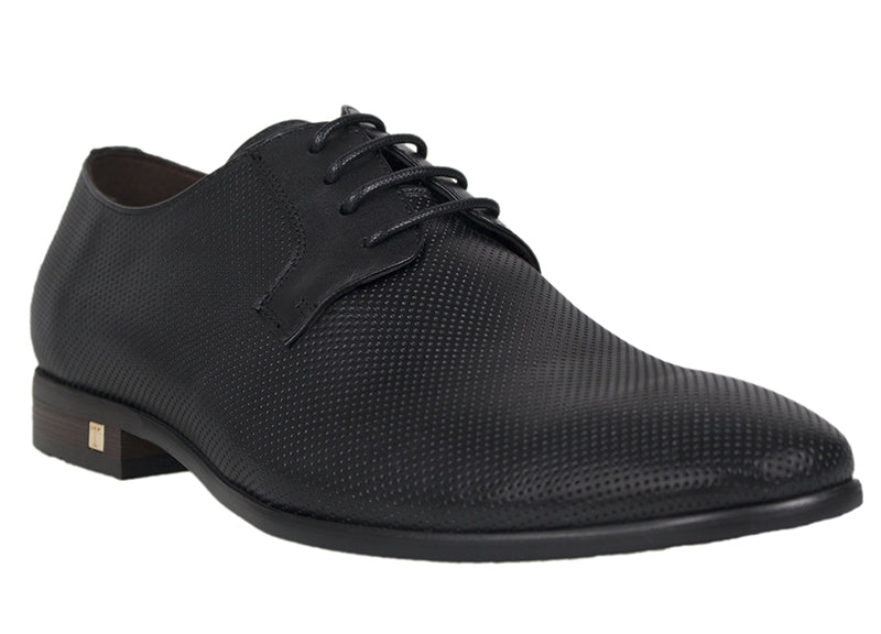 Load image into Gallery viewer, Tomaz F158 Perforated Lace Up Formal (Black) - Tomaz Shoes (439594582045)