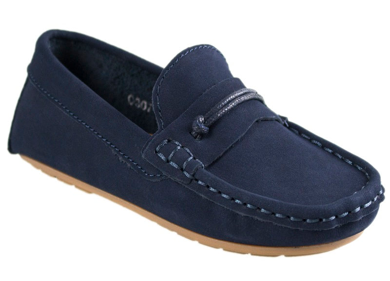 Load image into Gallery viewer, Tomaz C307 Penny Loafers (Navy) - Tomaz Shoes (10469733384)