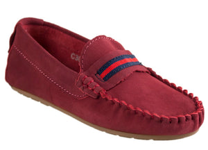 Tomaz C306 Penny Strap (Red) - Tomaz Shoes