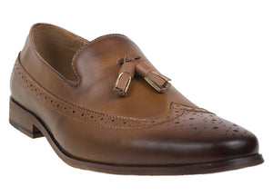 Load image into Gallery viewer, Tomaz F116 Tassel Loafers (Brown) - Tomaz Shoes (8716797960)