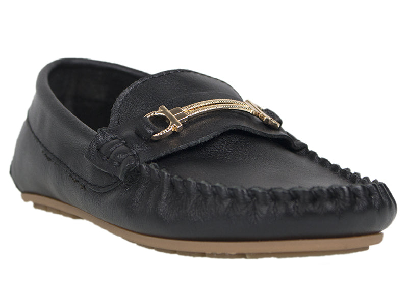 Load image into Gallery viewer, Tomaz C327 Buckle Loafers (Black) (Kids) - Tomaz Shoes (737849901145)