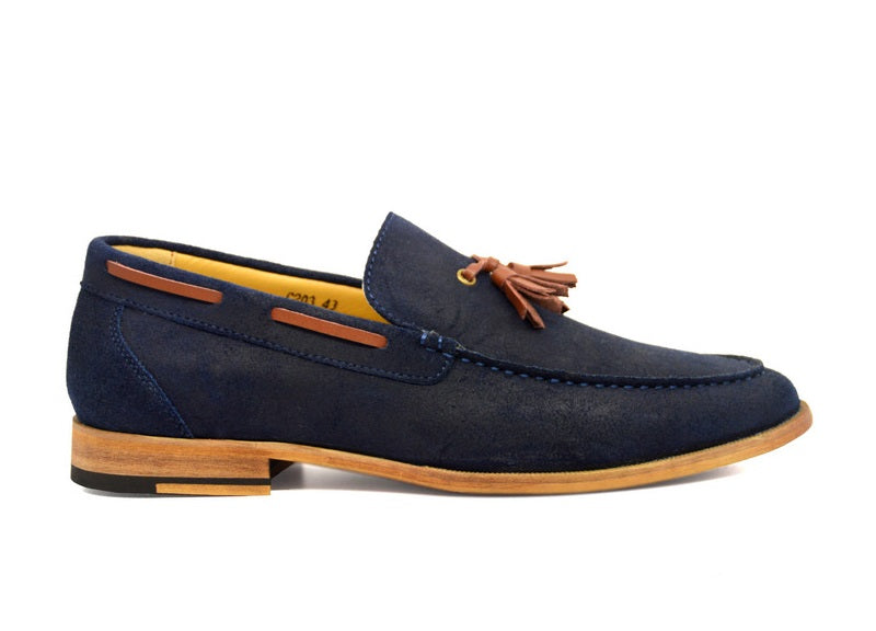 Tomaz C203 Tassel Loafers (Navy) - Tomaz Shoes (382141726749)