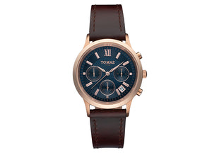 Tomaz Ladies Watch TQ002 (Rose Gold/Navy) - Tomaz Shoes
