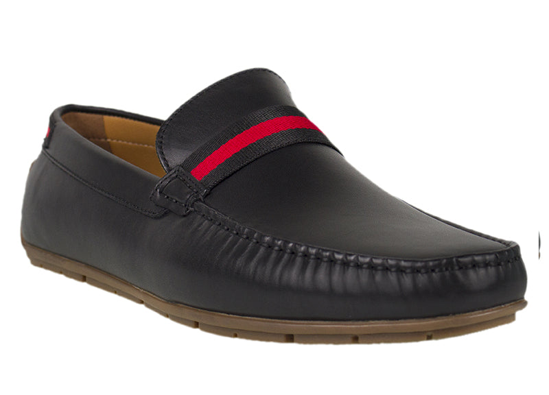 Load image into Gallery viewer, Tomaz C331 Striped Penny Loafers (Black) - Tomaz Shoes (782158135385)