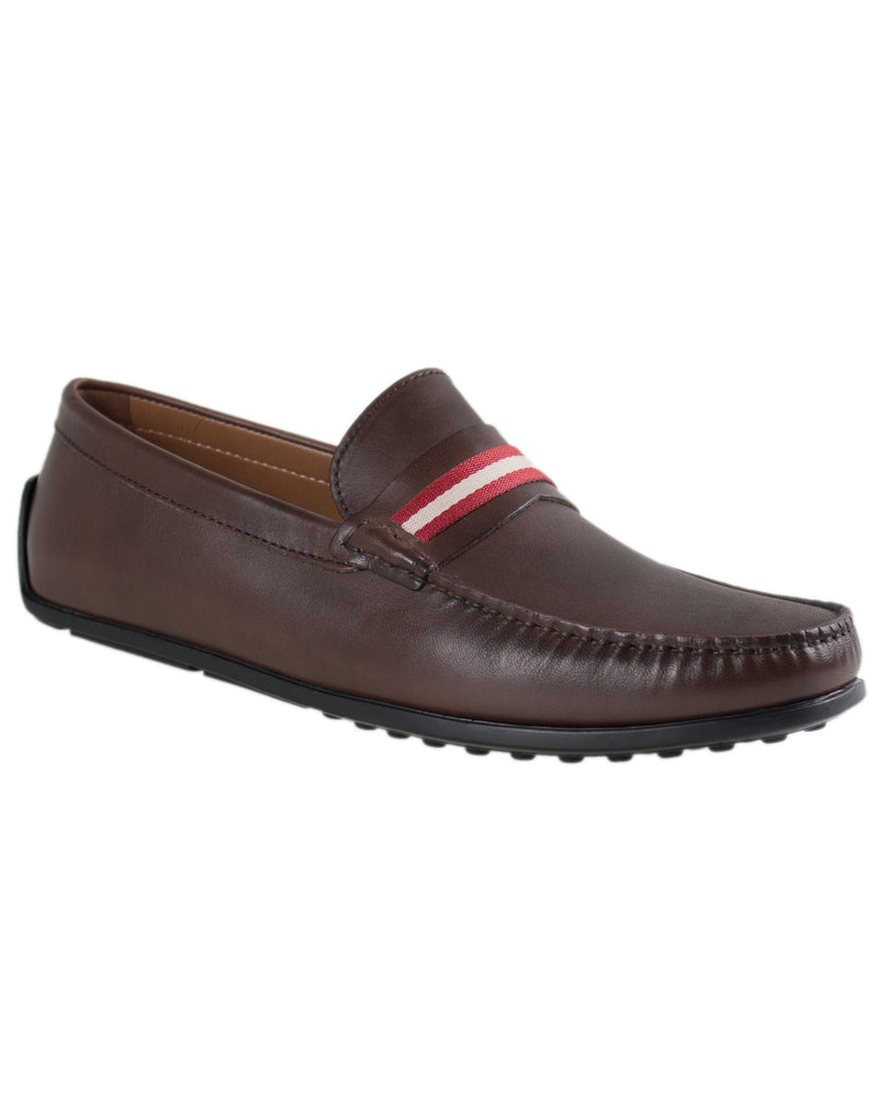 Load image into Gallery viewer, Tomaz C308 Striped Driving Moccasins (Coffee)