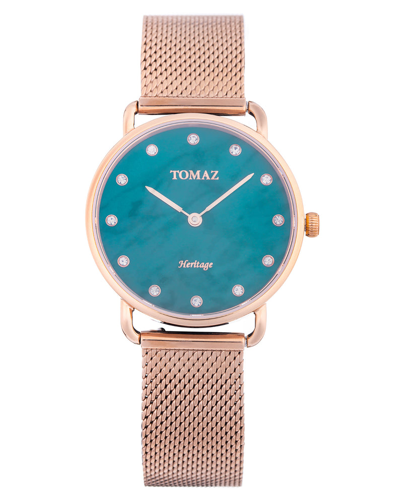 Tomaz Ladies Watch G1L-D5 (Rose Gold/Green Marble) watches Malaysia, watches for women, watches online, Watches of Switzerland, Watches for sale online, simple watch, ladies watch, watch with Sapphire Crystal, Swarovski watch