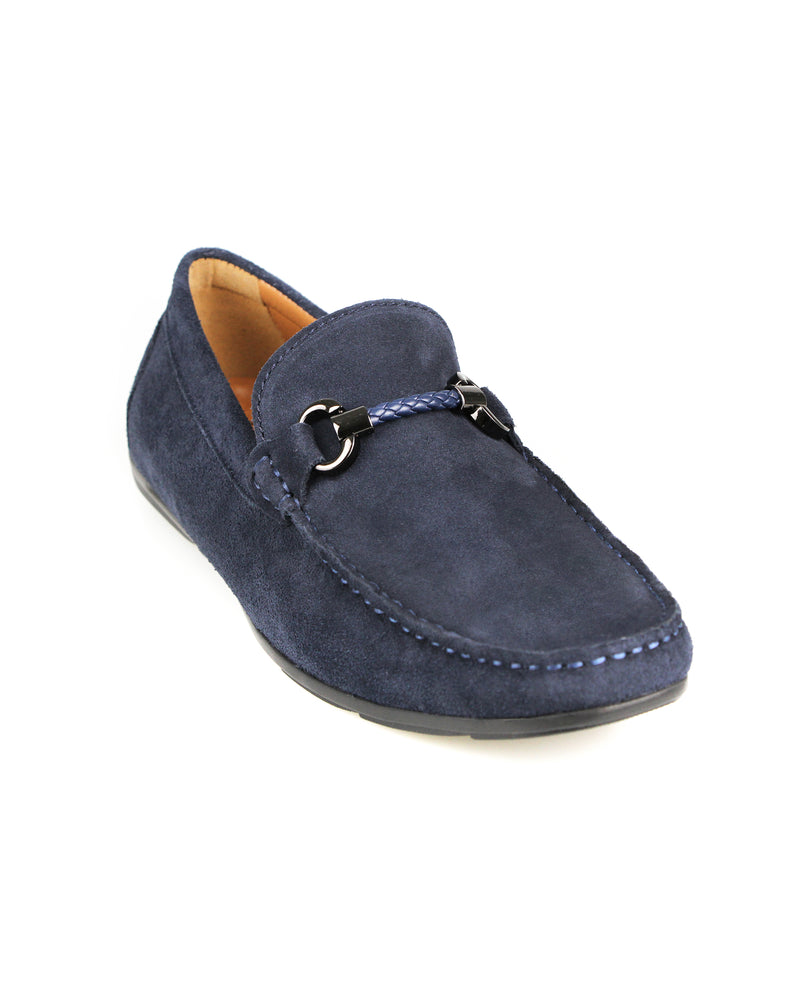 Load image into Gallery viewer, Tomaz C388 Buckled Moccasins (Navy) men's shoes casual, men's dress shoes, discount men's shoes, shoe stores, mens shoes casual, men's casual loafers men's loafers sale, men's dress loafers, shoe store near me.