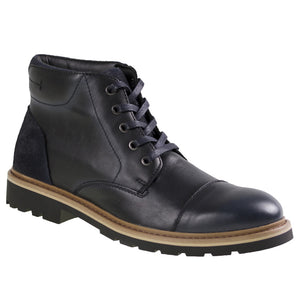 Tomaz C269 Cap-toe Boots (Black) - Tomaz Shoes