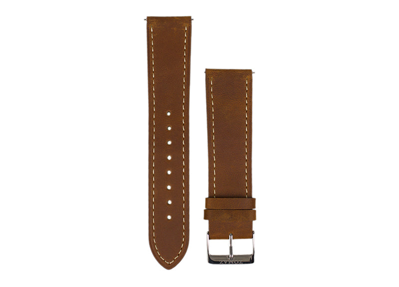 Tomaz 22mm Leather Watch Strap (Brown) - Tomaz Shoes (752548577369)