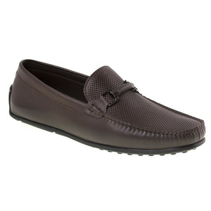 Tomaz BF003 Perforated Buckle Loafers (Coffee) - Tomaz Shoes