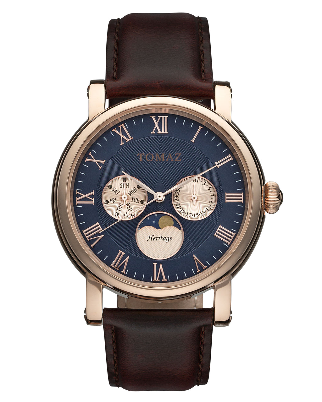 Tomaz Mens Watch TQ007 (Rose Gold/Navy)