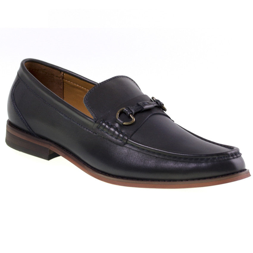 Load image into Gallery viewer, Tomaz C259 Penny Buckle Loafers (Navy) - Tomaz Shoes (8852912648)