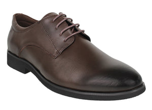 Tomaz F161 Lace Up Formal (Coffee) - Tomaz Shoes