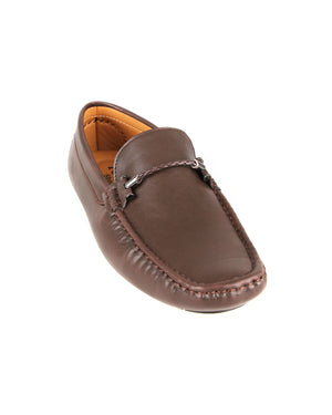 Load image into Gallery viewer, Tomaz C413 Single Braided Buckle Moccasins (Coffee)