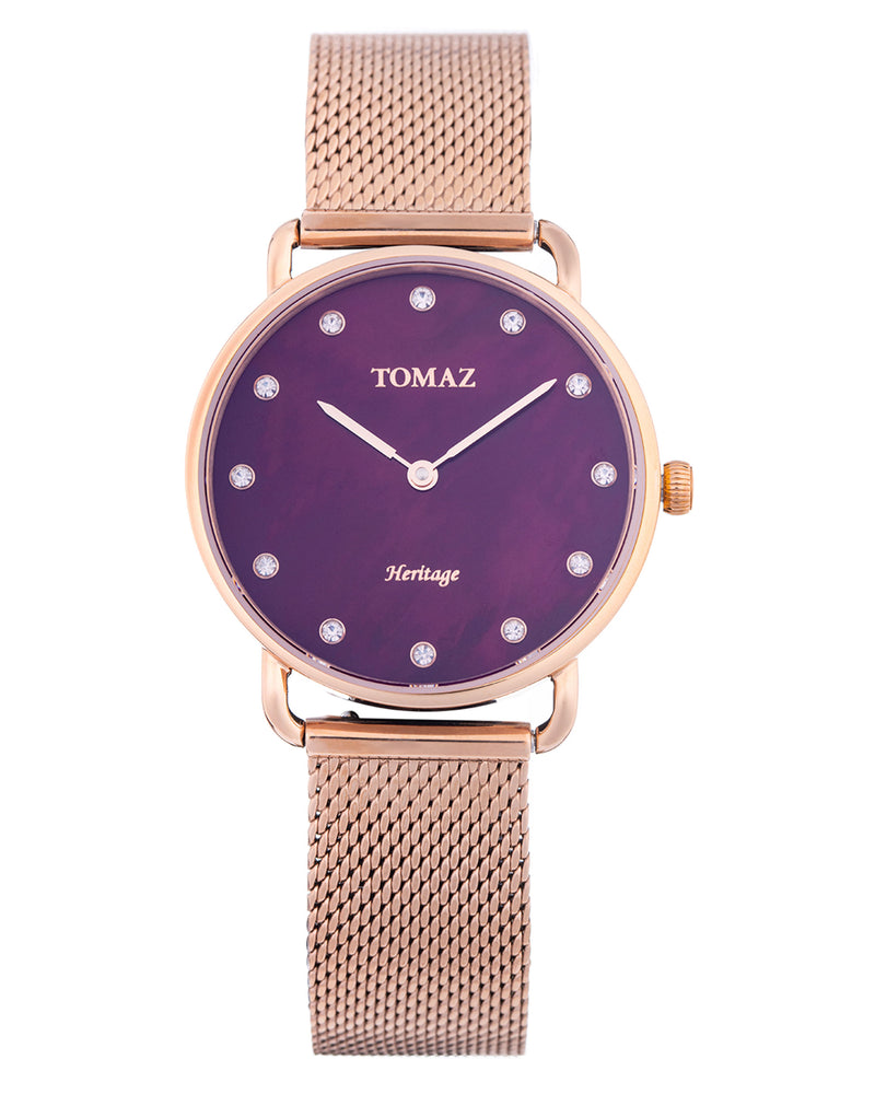 Tomaz Ladies Watch G1L-D10 (Rose Gold/Purple Marble)