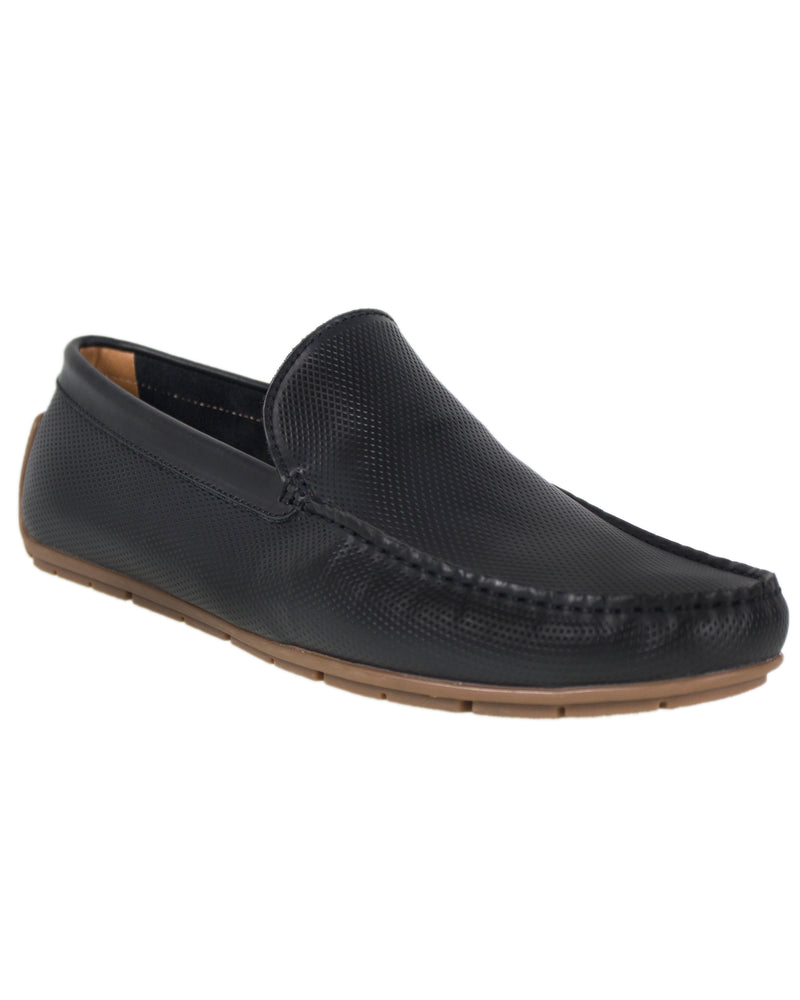 Load image into Gallery viewer, Tomaz C294 Perforated Slip On Moccasins (Black) men's shoes casual, men's dress shoes, discount men's shoes, shoe stores, mens shoes casual, men's casual loafers men's loafers sale, men's dress loafers, shoe store near me.