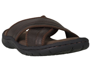 Tomaz C365 Mens Sandals (Coffee) - Tomaz Shoes