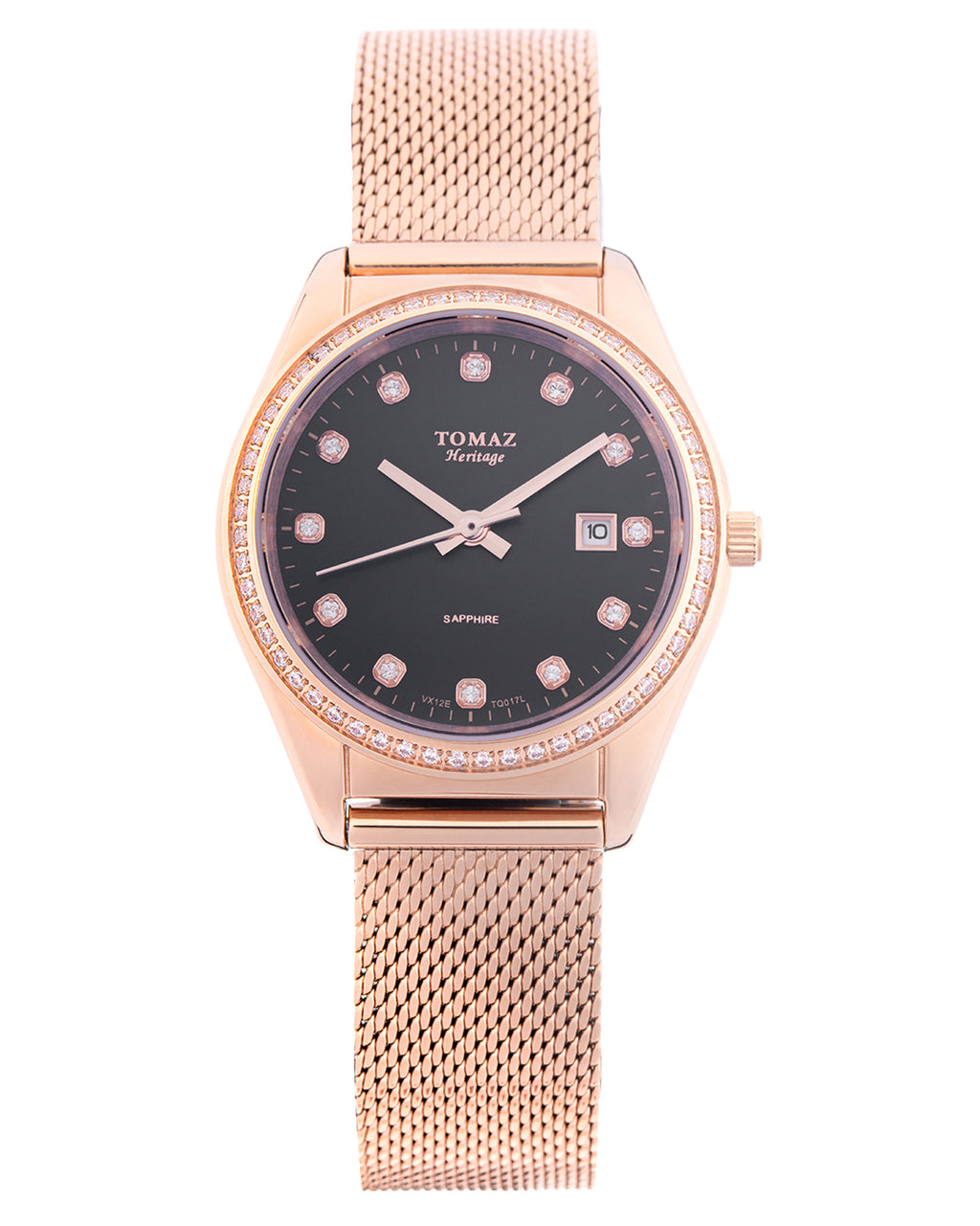 Tomaz Ladies Watch TQ017L (Rose Gold/Black)