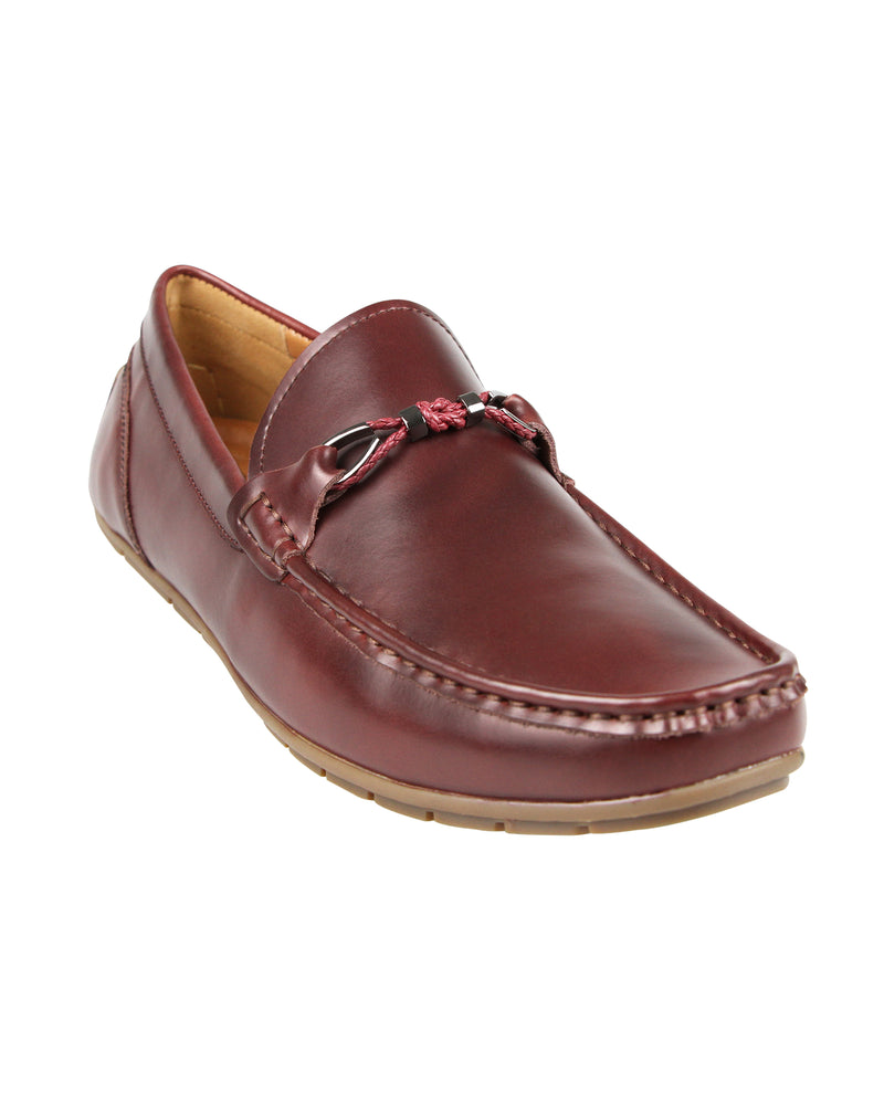 Load image into Gallery viewer, Tomaz C399 Braided Buckle Moccasins (Wine) men's shoes casual, men's dress shoes, discount men's shoes, shoe stores, mens shoes casual, men's casual loafers men's loafers sale, men's dress loafers, shoe store near me.