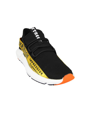 Load image into Gallery viewer, Tomaz C385 Casual Sneakers (Black Yellow)