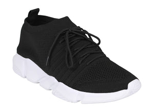 Tomaz 664 Running Sneakers (Black) - Tomaz Shoes