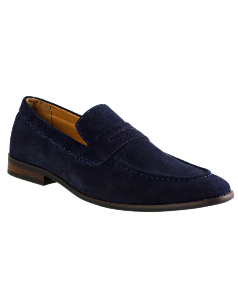 Load image into Gallery viewer, Tomaz F132 Penny Loafers (Navy)
