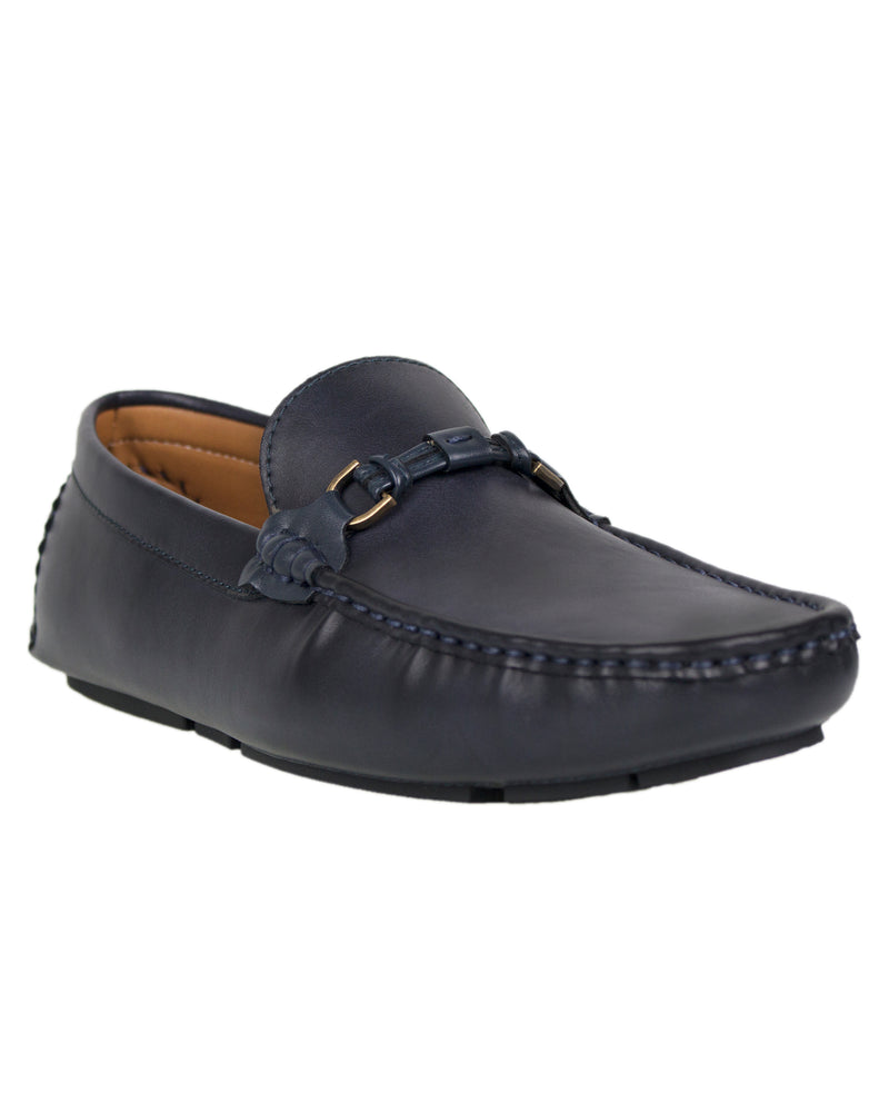 Load image into Gallery viewer, Tomaz C299 Buckle Moccasins (Navy)