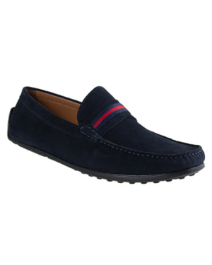 Load image into Gallery viewer, Tomaz C308 Striped Driving Moccasins (Navy)