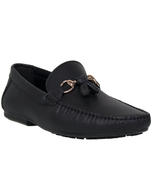 Load image into Gallery viewer, Tomaz C251 Buckle Tassel Driving Mocs (Black)
