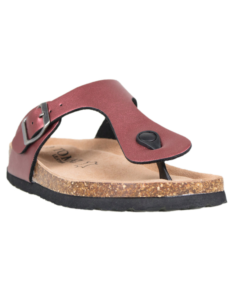 Load image into Gallery viewer, Tomaz F14 Ladies Strap Sandal (Burgundy)