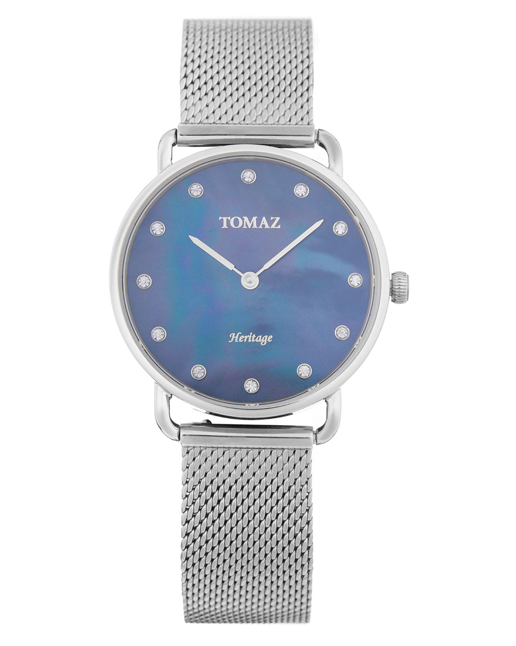 Tomaz Ladies Watch G1L-D11 (Silver/Dark Blue Marble)
