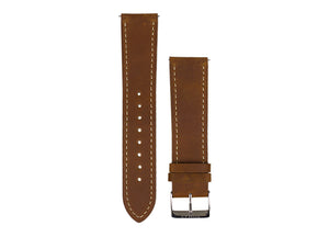 Tomaz 20mm Leather Watch Strap (Brown) - Tomaz Shoes