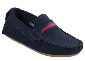 Tomaz C306 Penny Strap (Navy) - Tomaz Shoes