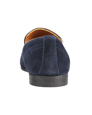 Load image into Gallery viewer, Tomaz F195 Whole Cut Slip Ons (Navy)