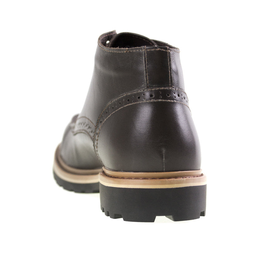 Load image into Gallery viewer, Tomaz C270 Perforated Leather Boots (Coffee) - Tomaz Shoes (8861481608)