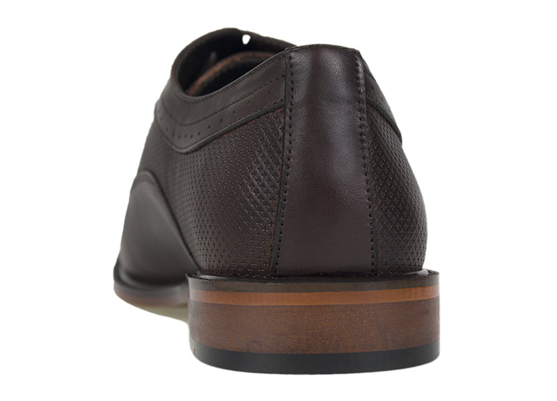 4a4f3ec62e7 Tomaz F174 Perforated Lace Up Formal (Coffee) - Tomaz Shoes