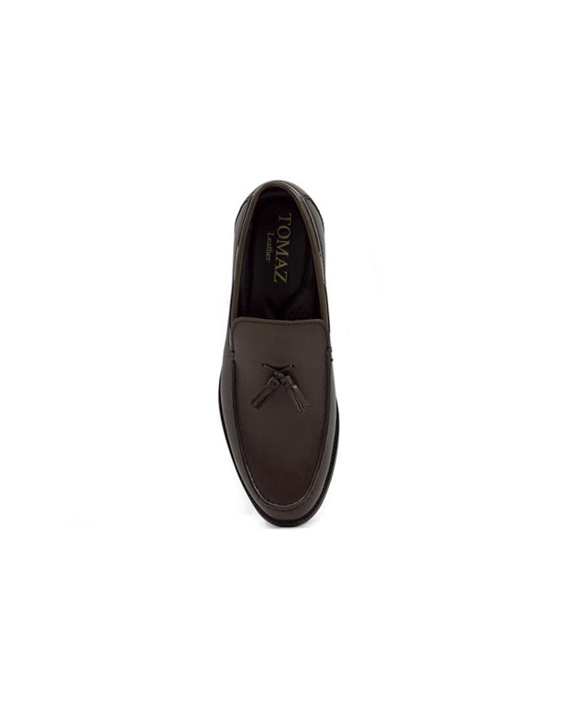 Load image into Gallery viewer, Tomaz F098 Tassel Loafers (Coffee)