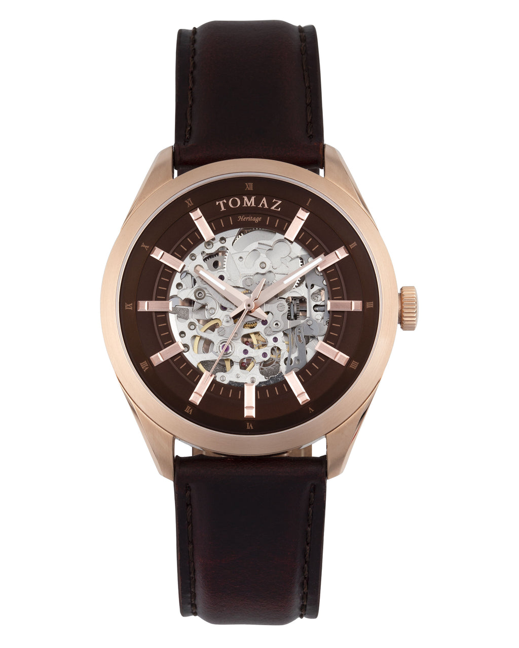 Tomaz Men's Watch TW007 (Rose Gold/Coffee)